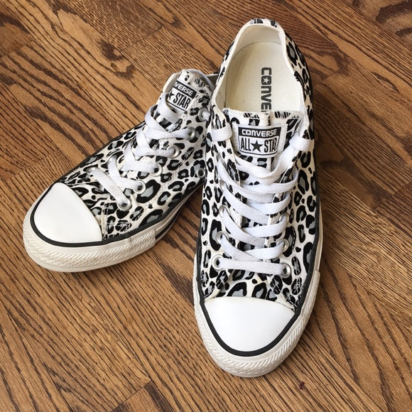 77264376948f Converse Shoes - Converse All Star leopard print Chuck Taylors